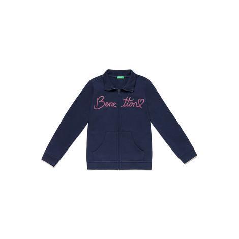 Benetton Çocuk Yazılı Sweatshirt