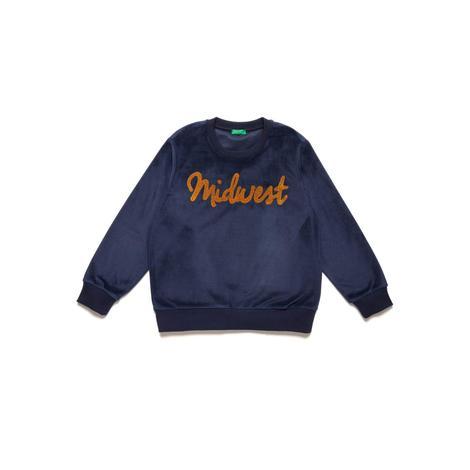 Benetton Çocuk Midwest İşlemeli Sweatshirt