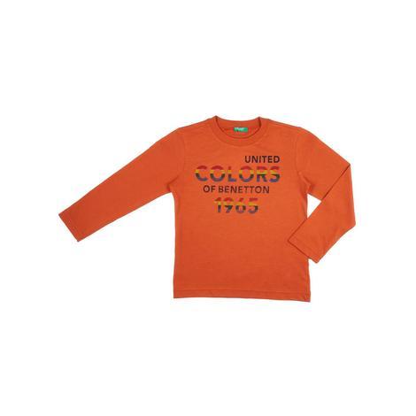 Benetton Çocuk Yazılı Kış T-Shirt