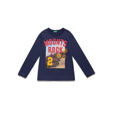 Benetton Çocuk Sloganlı Grafik Baskılı T-Shirt