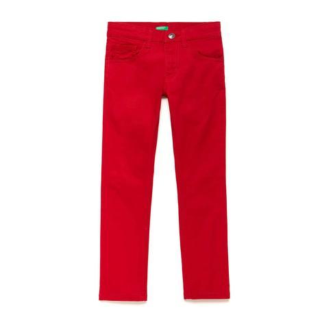 Benetton Çocuk Beş Cep Kırmızı Pantolon