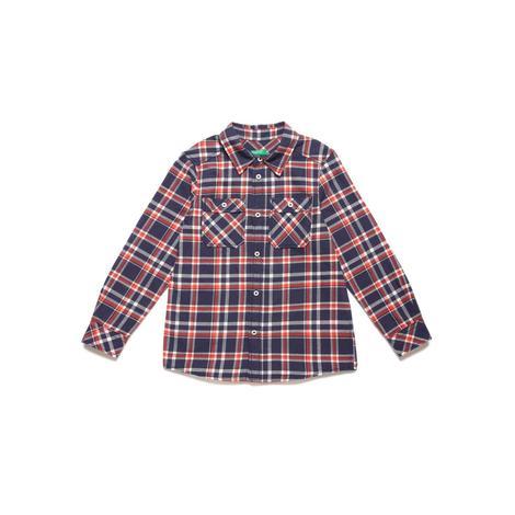 Benetton Çocuk Ekose Oduncu Gömlek