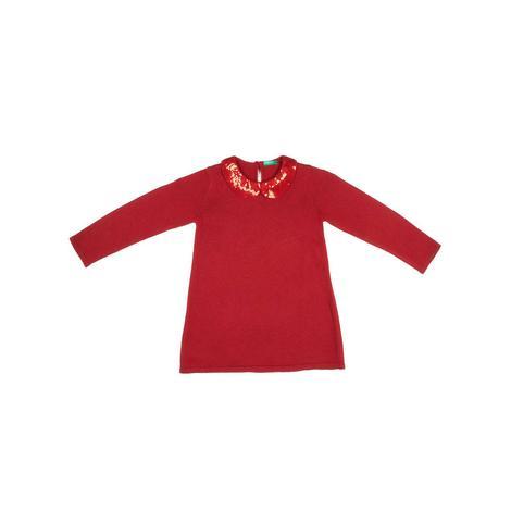 Benetton Çocuk Yakada Payet Detaylı Sweat Elbise
