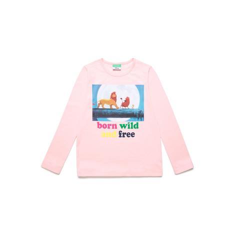 Benetton Çocuk Aslan Kral Baskılı T-Shirt