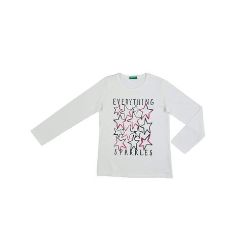 Benetton Çocuk Kurdela Efektli T-Shirt