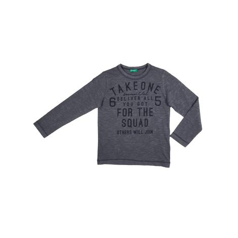 Benetton Çocuk Slogan Baskılı T-Shirt