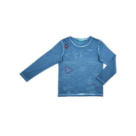 Benetton Çocuk Grafik Baskılı Degrade T-Shirt