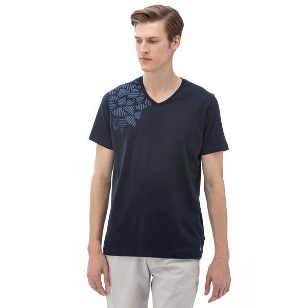 Nautica Erkek V-Yaka Lacivert T-Shirt