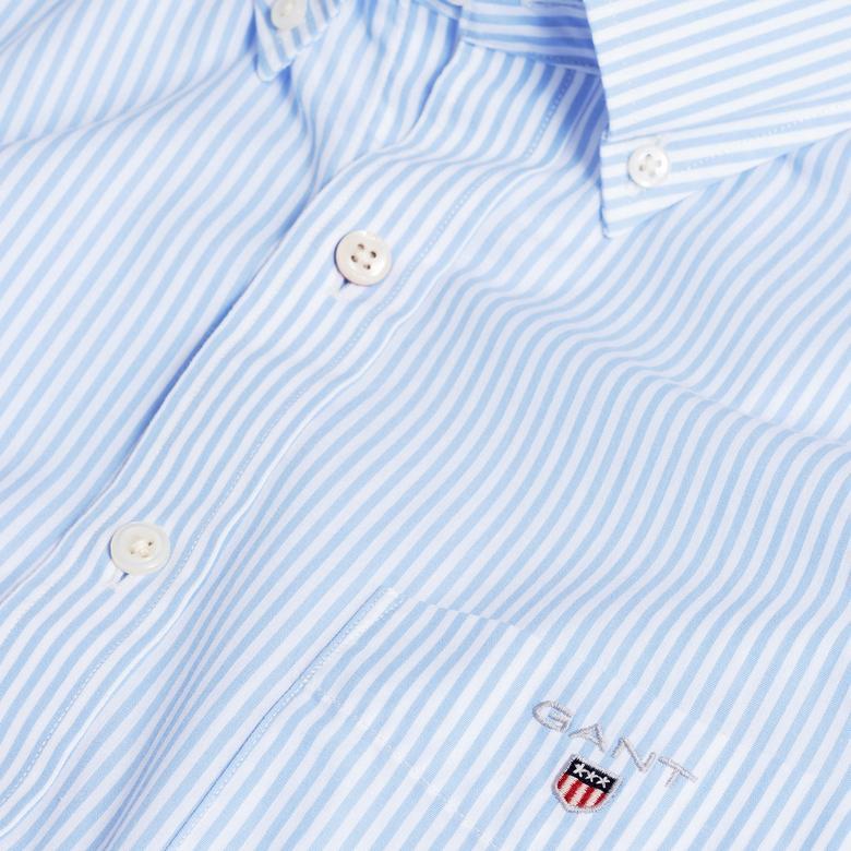 Gant Erkek Regular Fit Mavi Çizgili Gömlek