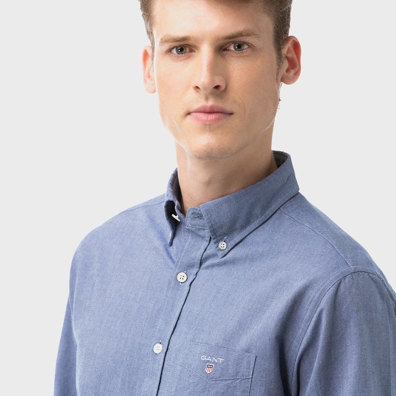 Gant Erkek Regular Fit Mavi Gömlek