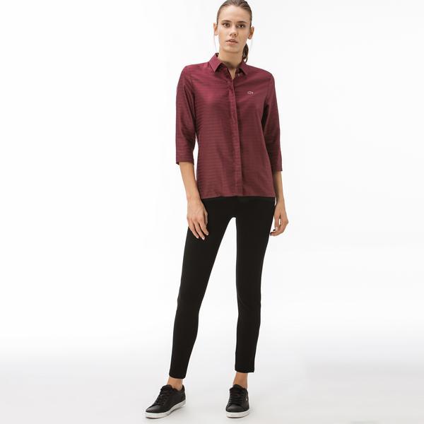 Lacoste Kadın Slim Fit Lacivert Pantolon