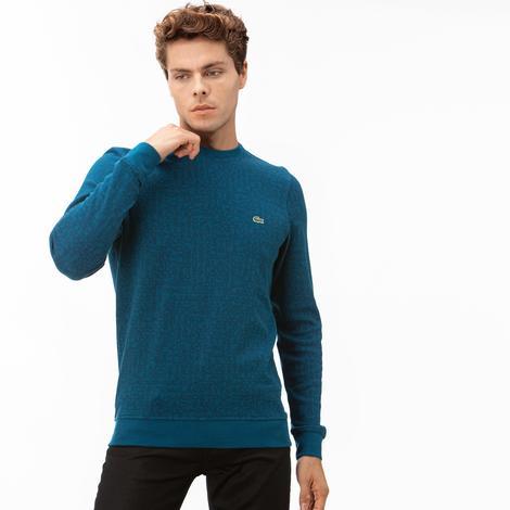 Lacoste Erkek Baskılı Mavi Sweatshirt