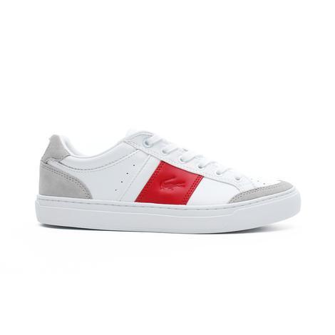 Lacoste Courtline 319 1 Us Cfa Kadın Beyaz - Kırmızı Casual Ayakkabı