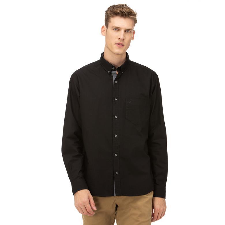 Nautica Erkek Klasik Fit Siyah Gömlek