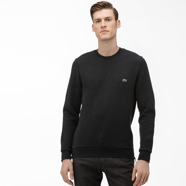 Lacoste Erkek Bisiklet Yaka Fermuar Detaylı Siyah Sweatshirt