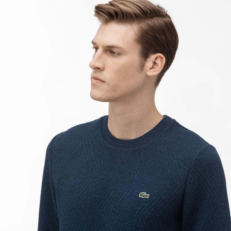 Lacoste Erkek Bisiklet Yaka Fermuar Detaylı Lacivert Sweatshirt