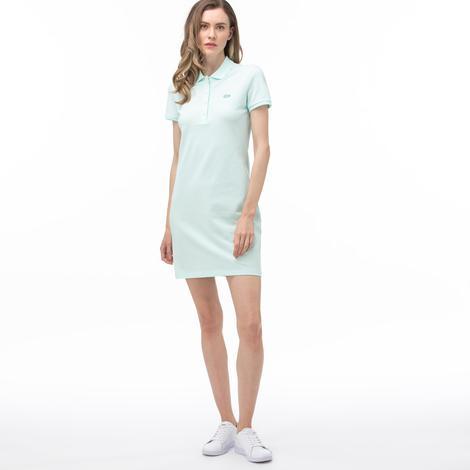 Lacoste Kadın Polo Yaka Kısa Kollu Açık Mavi Elbise