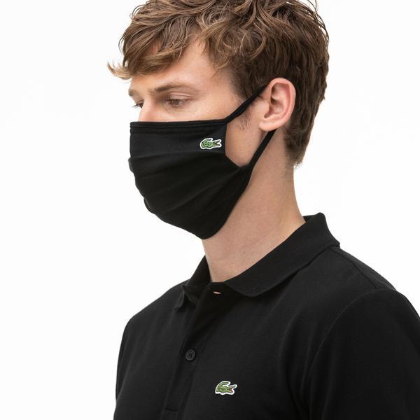 Lacoste Pamuklu Yıkanabilir Unisex Siyah Maske