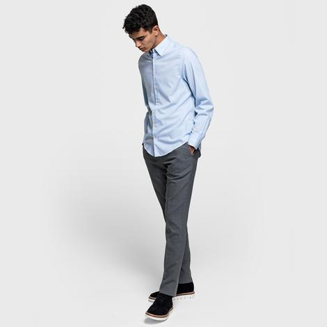 Gant Erkek Açık Mavi Slim Fit Tech Prep? Oxford Gömlek