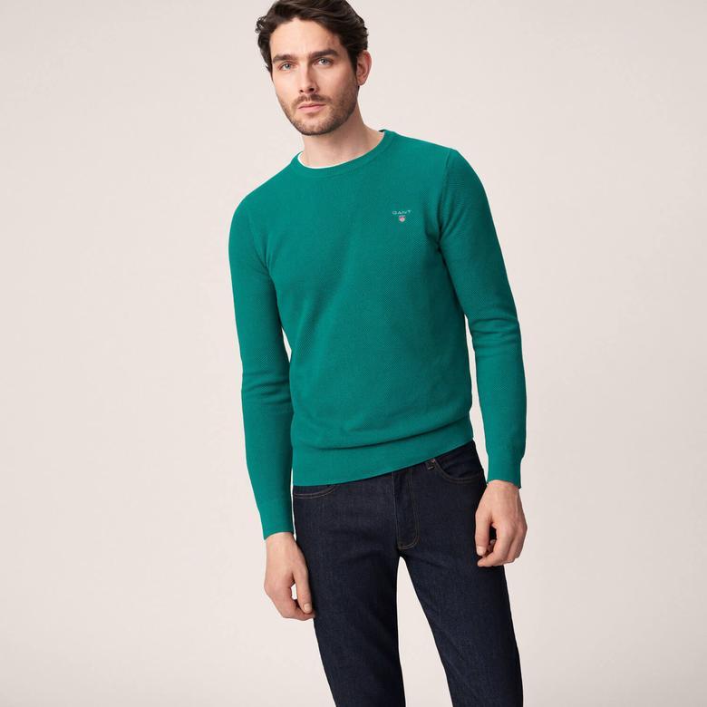 Erkek Yeşil Piqué Triko