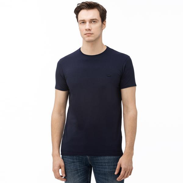 Lacoste Erkek Slim Fit Bisiklet Yaka Lacivert T-Shirt