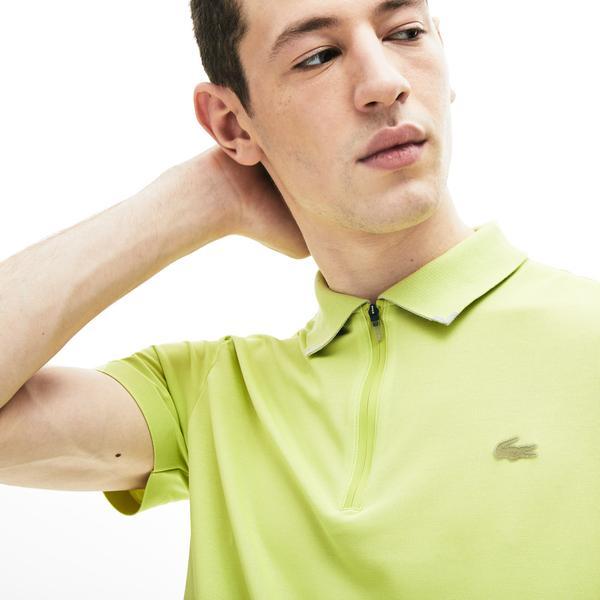 Lacoste Motion Erkek Yeşil Slim Fit Fermuarlı Yaka Kısa Kollu Polo