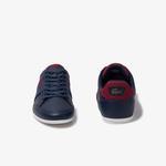 Lacoste Chaymon 120 4 Cma Erkek Lacivert - Koyu Kırmızı Deri Casual Ayakkabı