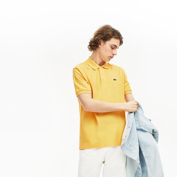 Lacoste Erkek Klasik Fit L1212 Sarı Kısa Kollu Polo