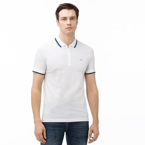 Lacoste Erkek Slim Fit Beyaz Kısa Kollu Polo