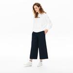 Lacoste Kadın Beyaz Kapüşonlu Sweatshirt