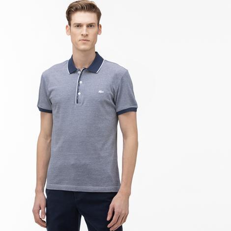 Lacoste Erkek Regular Fit Mavi Kısa Kollu Polo