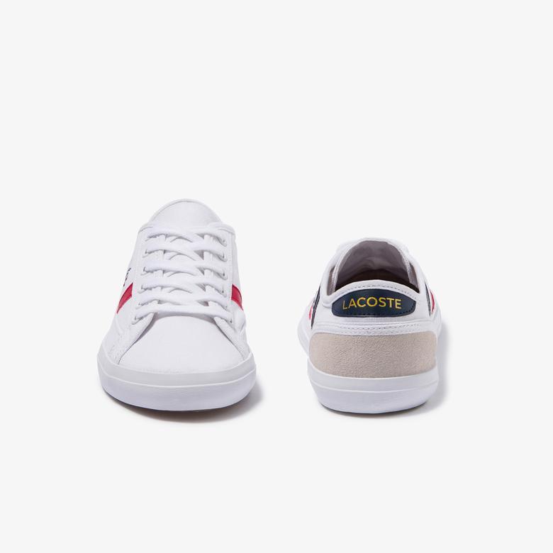 Lacoste Sideline Tri 2 CFA Kadın Beyaz Renk Bloklu Sneaker
