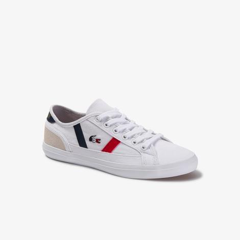 Lacoste Sideline Tri 2 CFA Kadın Beyaz Günlük Ayakkabı