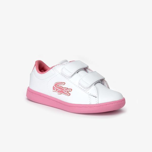 Lacoste Carnaby Evo Çocuk Beyaz - Pembe Spor Ayakkabı