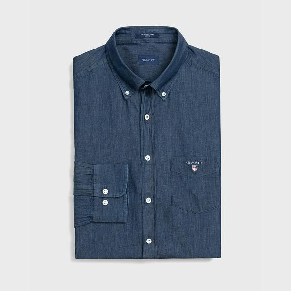 GANT Erkek Koyu Mavi Regular Fit Gömlek