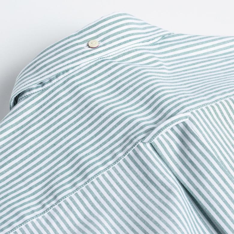 GANT Erkek Yeşil Çizgili Regular Fit Gömlek