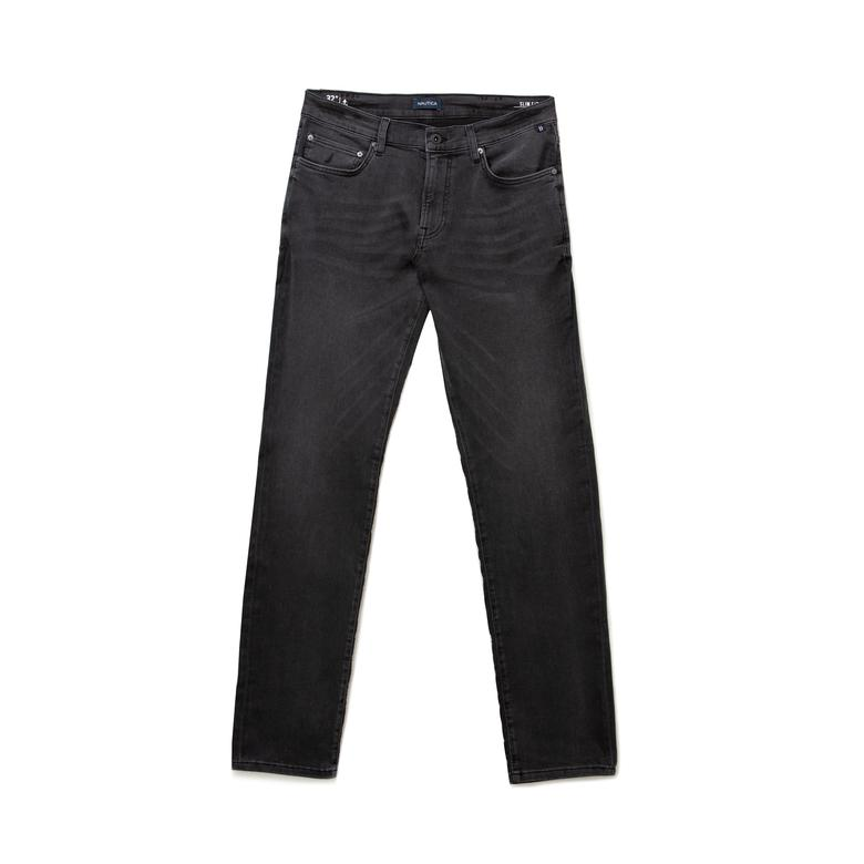 NAUTICA Erkek Gri Slim Fit Denim Pantolon