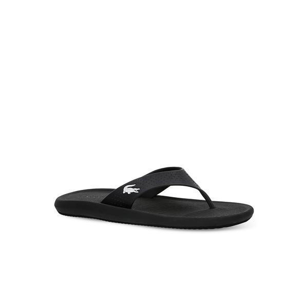 Lacoste Croco Sandal 219 1 Cma Erkek Siyah - Beyaz Terlik