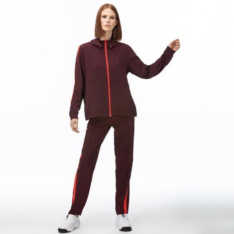 Lacoste Motion Kadın Kapüşonlu Bordo Sweatshirt
