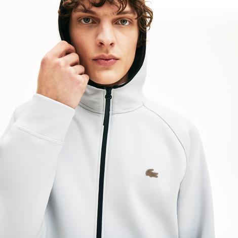 Lacoste Motion Erkek Gri Kapüşonlu Sweatshirt