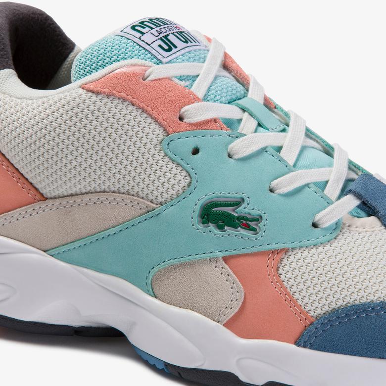 Lacoste Storm 96 120 3 Us Sfa Kadın Renkli File Detaylı Sneaker