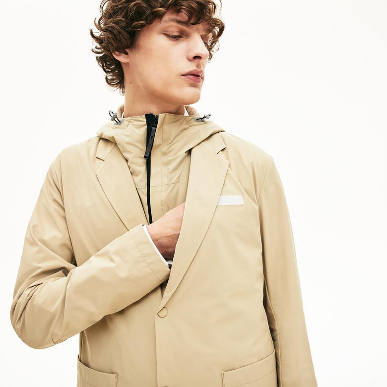Lacoste Motion Erkek Bej Kapüşonlu 3 Farklı Kullanımlı Ceket