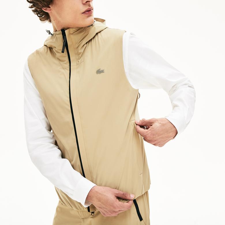 Lacoste Motion Erkek Açık Kahverengi Kapüşonlu 3 Farklı Kullanımlı Ceket