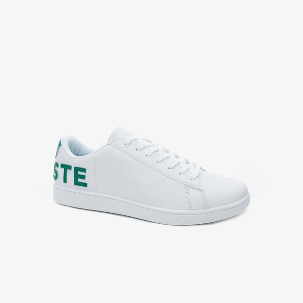 Lacoste Carnaby Evo Erkek Beyaz Deri Logo Detaylı Sneaker