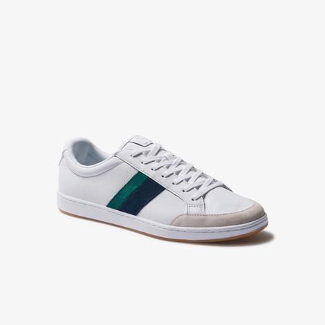 Lacoste Carnaby Ace 120 8 Sma Erkek Beyaz - Yeşil Deri Sneaker