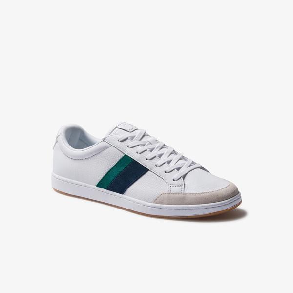 Lacoste Carnaby Ace 120 8 Sma Erkek Beyaz Deri Renk Bloklu Sneaker