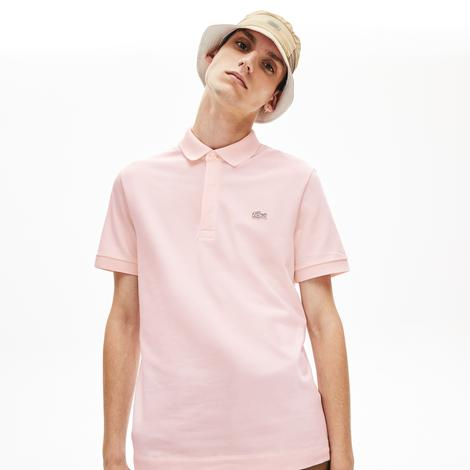 Lacoste Erkek Regular Fit Pembe Paris Kısa Kollu Polo