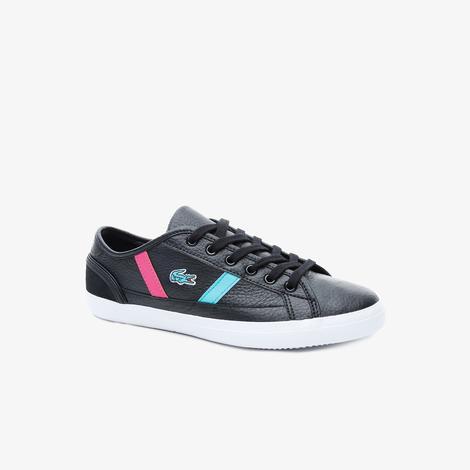 Lacoste Sideline 419 2 Qsp Cfa Kadın Siyah Renkli Çizgili Casual Ayakkabı