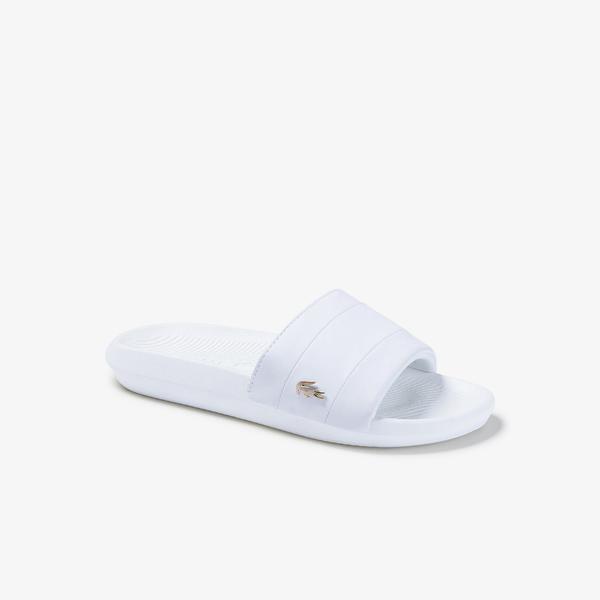 Lacoste Croco Slide  Kadın Beyaz Terlik