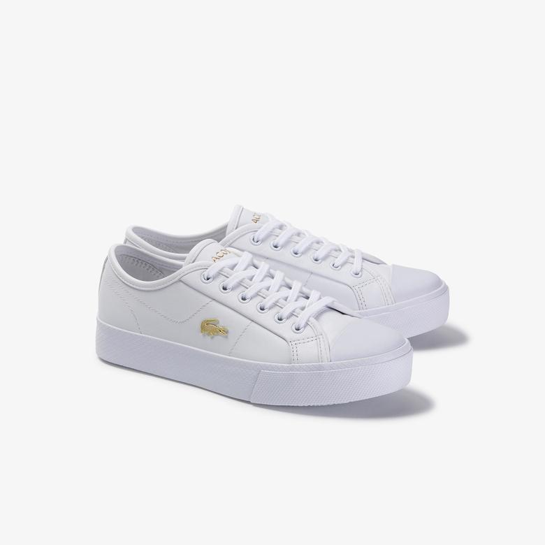 Lacoste Ziane Plus Grand 120 1 Cfa Kadın Beyaz Deri Casual Ayakkabı
